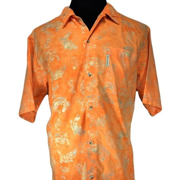b0ce56e9 Columbia Shirts | Mens Large Hawaiian Shirt Orange | Poshmark